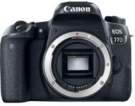 Aparat Foto DSLR Canon EOS 77D, Body, 24.2 MP, Full HD, Wi-Fi (Negru)