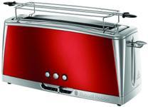 Prajitor de paine Russell Hobbs Luna Solar Red 23250-56, 1420W, 2 felii, 6 nivele (Rosu/Inox)