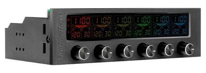 Fan controller Thermaltake Commander F6 RGB LCD, 6 ventilatoare (Gri)