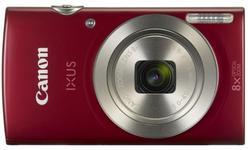 Aparat Foto Digital Canon IXUS 185, 20 MP, Filmare HD, Zoom optic 8x (Rosu) + Card 8GB + Geanta
