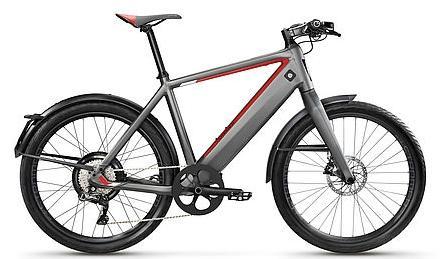 Bicicleta electrica Stromer, Autonimie 180 km, Viteza maxima 45 Km/h, Roti 26inch (Gri)