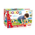 Cuburi colorate de construit DOLU, 56 piese