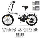 Bicicleta electrica Nilox E-Bike X1, Viteza maxima 25 km/h, Autonomie 25 km, Motor 250 W (Alb)