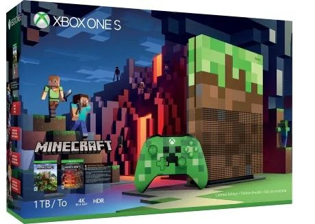 Imagine indisponibila pentru Consola Microsoft Xbox One S 1TB Minecraft Limited Edition Console + Cod de descarcare