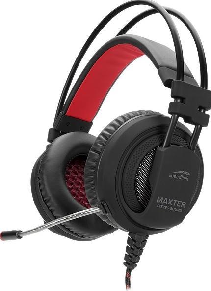 Casti Stereo Speedlink MAXTER pentru PS4, Microfon (Negru)