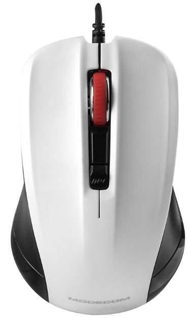 Mouse Optic Modecom MC-M9.1, 1600 DPI, USB (Alb/Negru)