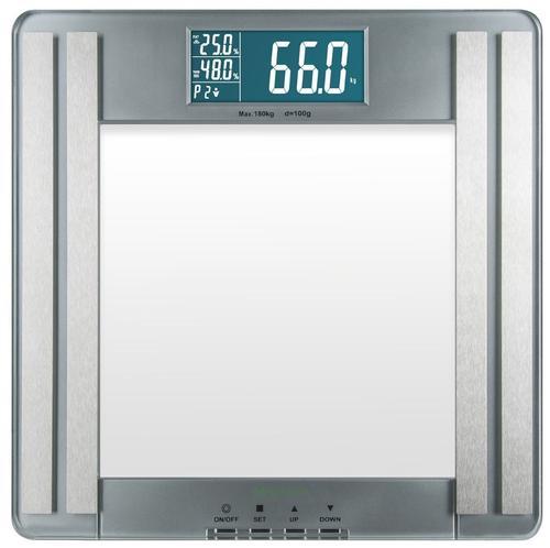 Cantar electronic cu analizator corporal Medisana PSM, 180 kg, 10 memorii (Argintiu)
