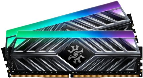Memorie A-DATA Spectrix D41, 8GB, 2666 MHz, DDR4, RGB (Gri)