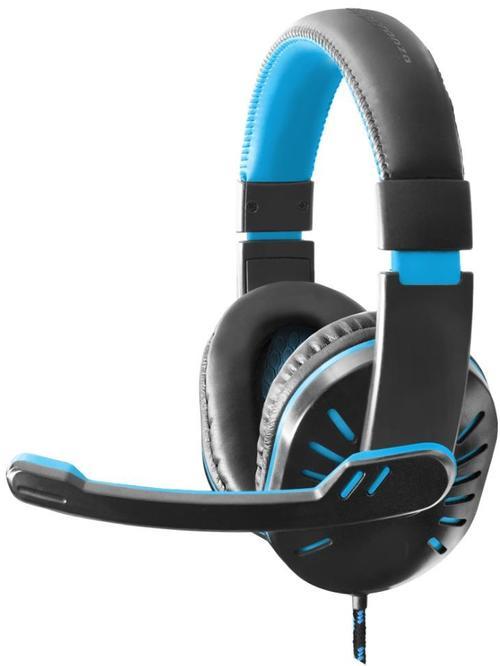 Casti Stereo Esperanza CROW EGH330B, Microfon (Negru/Albastru)