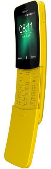 Telefon Mobil Nokia 8110, Procesor Dual-Core 1.1GHz, Ecran 2.45inch, 512MB RAM, 4GB Flash, 2MP, Wi-Fi, 4G, Single SIM (Galben)