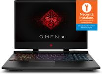 Laptop Gaming HP OMEN 15-dc0013nq (Procesor Intel® Core™ i7-8750H (9M Cache, up to 4.10 GHz), Kaby Lake, 15.6 FHD, 8GB, 256GB SSD, nVidia GeForce GTX 1050Ti @4GB, Negru)