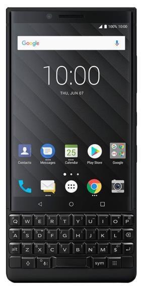 Telefon Mobil BlackBerry Key 2, Procesor Octa-Core 1.8GHz/2.2GHz, IPS LCD Capacitive Touchscreen 4.5inch, 6GB RAM, 64GB Flash, Dual 12MP, Wi-Fi, 4G, Android, Single SIM (Negru)