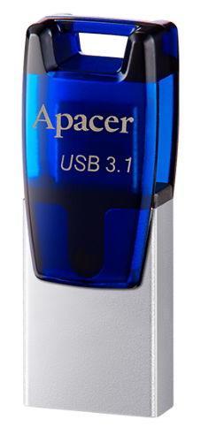 Stick USB Apacer AH179, 32GB, USB 3.1, Micro USB (Albastru)