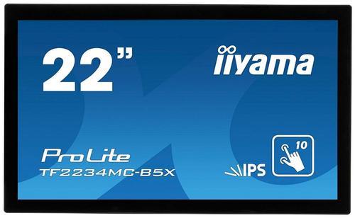 Monitor IPS LED iiyama 21.5inch TF2234MC-B5X, Full HD (1920 x 1080), VGA, HDMI, DisplayPort, Touchscreen, 8 ms (Negru)