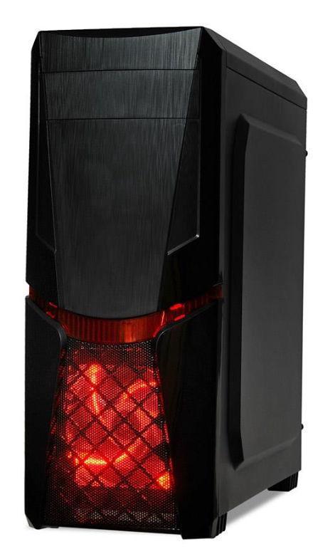 Carcasa I-BOX Orcus X14, MidTower, Iluminare LED Rosu (Negru)