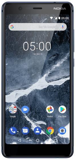 Telefon Mobil Nokia 5.1 (2018), Procesor Octa-Core 1.2/2.0GHz, IPS LCD Capacitive Touchscreen 5.5inch, 2GB RAM, 16GB Flash, 16MP, Wi-Fi, 4G, Dual Sim, Android (Albastru)