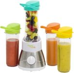 Blender Bestron AFM400, 400W, 0.6l, Include 4 recipiente (Inox/Alb)