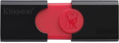 Stick USB Kingston DataTraveler 106, 128GB, USB 3.0 (Negru/Rosu)