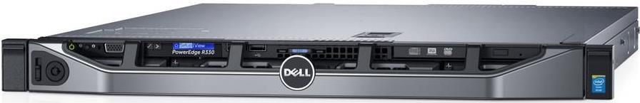 Server Rackabil Dell PowerEdge R330 (Procesor Intel® Xeon® E3-1220 v6 (8M Cache, 3.10 GHz), Skylake, 16GB @2400MHz, UDIMM, DDR4, 1TB @7200rpm, SATA, 350W PSU)
