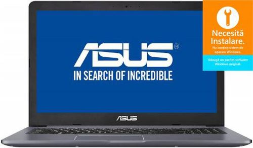 Laptop ASUS VivoBook Pro 15 N580GD (Procesor Intel® Core™ i7-8750H (9M Cache, up to 4.10 GHz), Coffee Lake, 15.6inch FHD, 8GB, 256GB SSD, nVidia GeForce GTX 1050 @4GB, Free DOS, Gri)