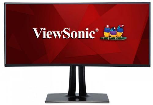 Monitor IPS LED ViewSonic 38inch VP3881, WQHD+ (3840 x 1600), HDMI, DisplayPort, Ecran Curbat, Boxe, 7 ms (Negru)