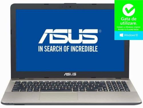 Laptop Asus Vivobook X541ua-dm1223 (procesor Intel® Core™ I3-7100u (3m Cache  2.40 Ghz)  Kaby Lake  15.6inchfhd  4gb  256gb Ssd  Intel® Hd Graphics 620  Dvd-rw  Win10 Home  Negru Ciocolatiu)