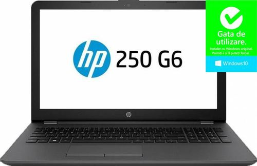 Laptop HP 250 G6 (Procesor Intel® Core™ i3-7020U (3M Cache, 2.30 GHz), Kaby Lake, 15.6inch HD, 8GB, 128GB SSD, Intel® HD Graphics 620, Wireless AC, Win10 Home, Gri)