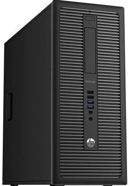 Calculator Sistem PC Refurbished HP EliteDesk 800 G1 Tower (Procesor Intel® Core™ i7-4770 (8M Cache, up to 3.90 GHz), 16GB, 128GB SSD, DVD-RW, nVidia GeForce GTX 1050@2GB, Win10 Home, Negru)