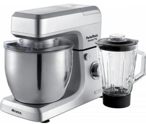 Robot de bucatarie Ariete Pastamatic Gourmet 1598/1, 2100 W, Bol 7 l, Blender 1.5 l (Argintiu)