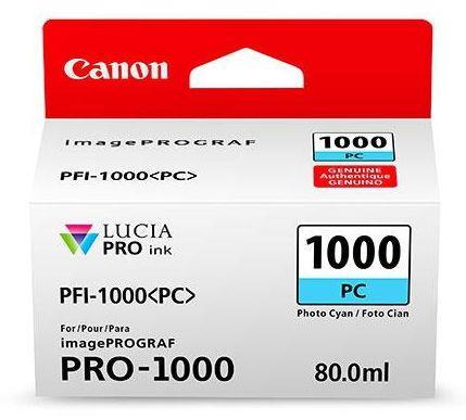 Cartus cerneala Canon PFI-1000PC, 80 ml (Cyan) poza 2021