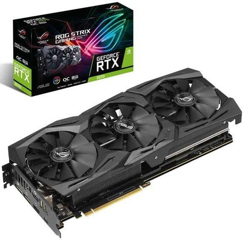 Placa video Asus ROG Strix GeForce RTX 2070 OC, 8GB, GDDR6, 256-bit
