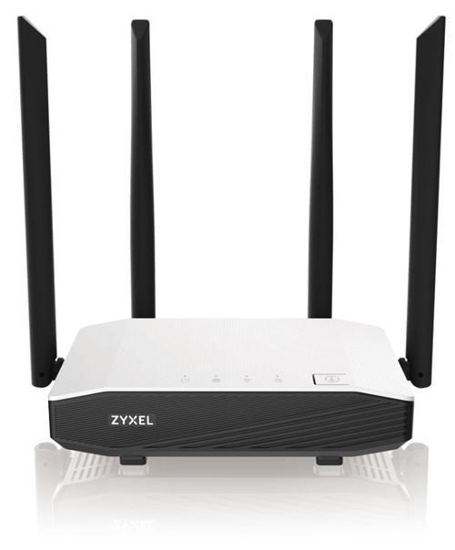 Router Wireless ZyXEL NBG6615-EU0101F, Gigabit, Dual Band, 1200 Mbps, 4 Antene Externe (Alb/Negru) poza 2021