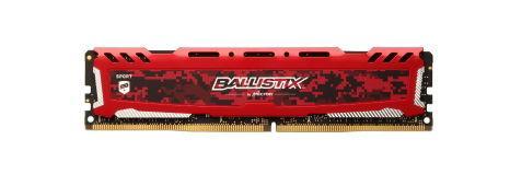 Memorie Crucial Ballistix Sport LT, DDR4, 1x16GB, 2400MHz (Rosu)