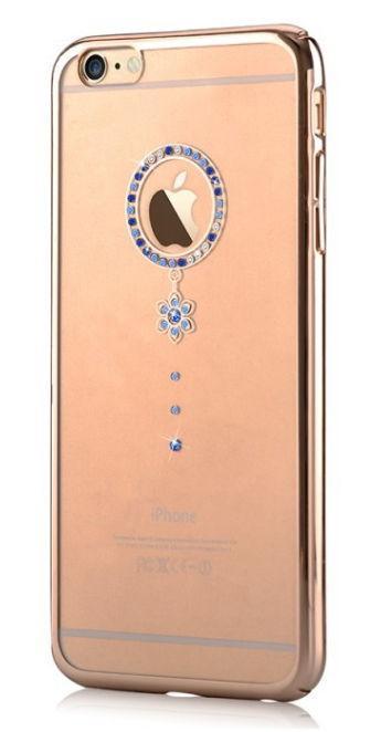 Protectie Spate Comma Crystal Camelia CMCMLIPH6BL, pentru iPhone 6 (Transparent/Albastru)