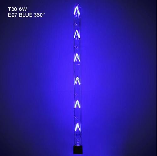 Bec Led filament 2R L020207337, E27, T30, 6W, lumina calda (2700K), 1080 lumeni, durata deviata 30000 ore, culoare albastra, 600 mm