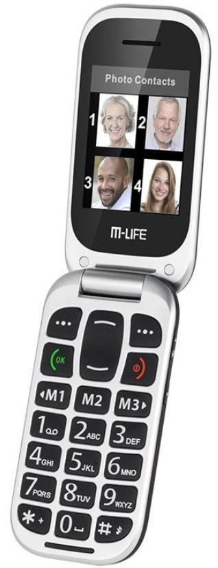 Telefon Mobil M-Life ML0653, Ecran TFT 2.4inch, 2G, Bluetooth (Negru)