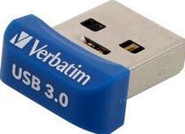 Stick USB Verbatim Store n stay NANO, 64GB, USB 3.0 (Albastru)