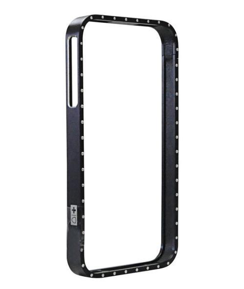 Protectie Spate Swiss Charger Aluframe Ladies SWISSSCP40012 pentru iPhone 4 (Transparent/Negru)