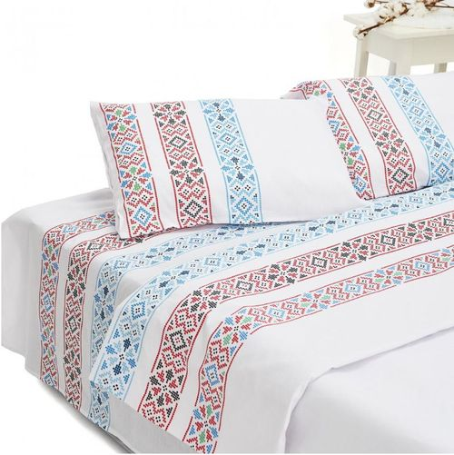 Lenjerie de pat King Size Heinner HR-4BED132-TRDB, Bumbac, 4 piese (Multicolor)