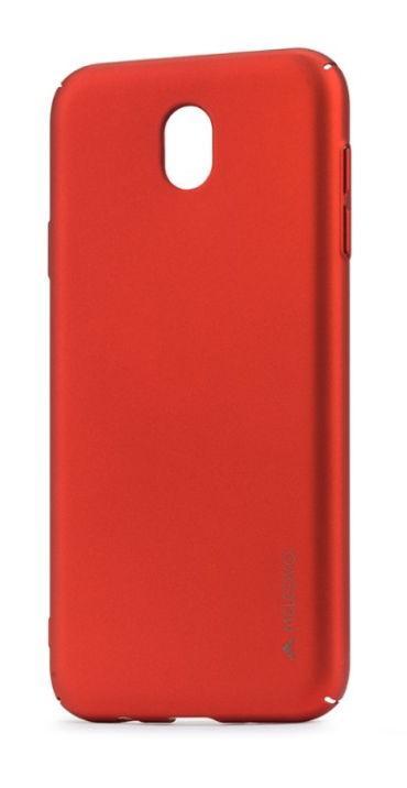 Protectie Spate Meleovo Metallic Slim 360 pentru Samsung Galaxy J3 (2017) (Rosu)