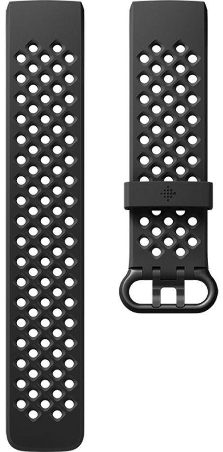 Curea de schimb Fitbit FB168SBBKL pentru Fitbit Charge 3, Marimea L (Negru)