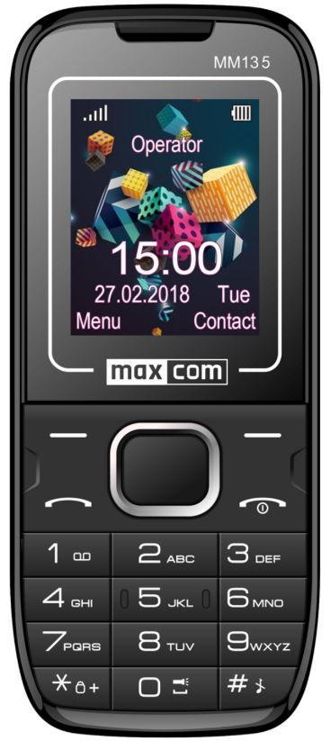 Telefon Mobil MaxCom Classic MM135, 1.77inch, 2G (Negru/Albastru)