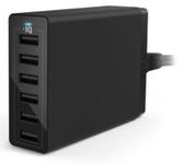 Incarcator Retea Anker 60W PowerIQ A2123L12, 6 porturi USB (Negru)