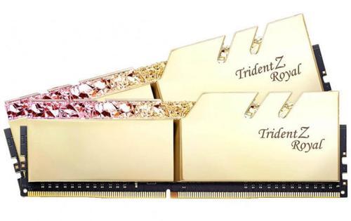 Memorie G.Skill Trident Z Royal, DDR4, 2x8GB, 3200 MHz, CL 14 (Auriu)