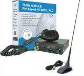 Kit Statie radio CB PNI ESCORT HP 8001L ASQ + Antena CB PNI Extra 48 cu magnet