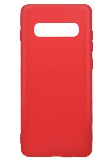 Protectie spate Just Must Silicon Candy pentru Samsung Galaxy S10 (Rosu)