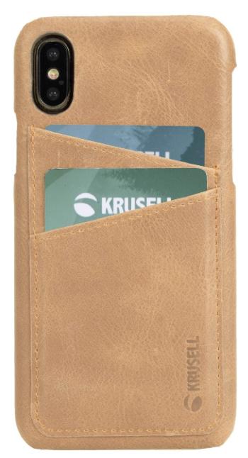 Protectie Spate Krusell Sunne Cover 2 Card KRS61444 pentru Apple iPhone XS (Maro)