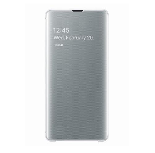 Husa Book Cover Samsung EF-ZG975CWEGWW pentru Galaxy S10 Plus (Alb)