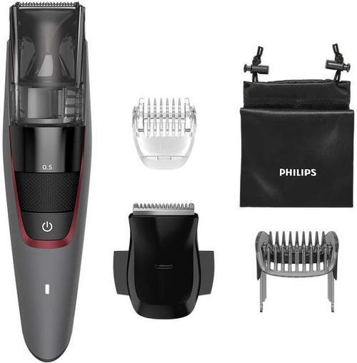 Aparat de tuns Philips BT7510/15 Beardtrimmer Series 7000, 20 trepte, Afisaj LED (Gri) imagine