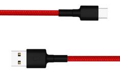 Cablu de date Xiaomi Mi SJV4110GL, Type-C (Negru/Rosu)